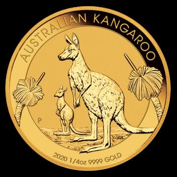 Kangaroo  - 1/4 d'once d'Or pur 24 carats - Année 2020