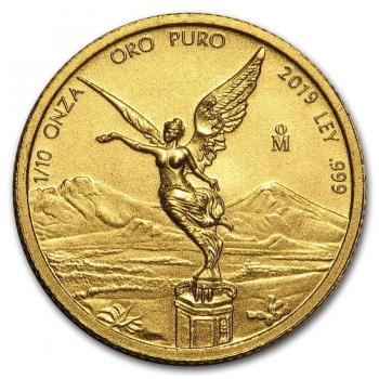 Libertad  - 1/10 d'once d'Or pur 24 carats - Année 2020