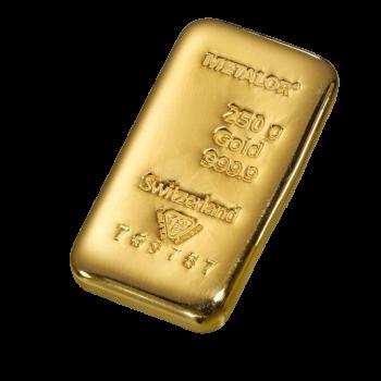 Lingot Or 250 grammes - Lingot Or pur 24 carats